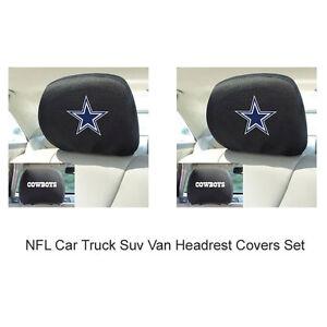 New-2pc-NFL-Dallas-Cowboys-Gear-Car-Truck-Suv-Van-Headrest-Covers-Set