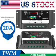 PWM 20A Auto Switch Solar Panel Battery Regulator Charge Controller 12V 24V ZN
