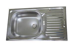 Acciaio Inox Lavello Incasso 76cm x 43,5cm Cucina Lavandino | eBay