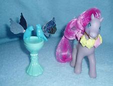 Rare My Little Pony Secret Surprise 'Wingsong' Bird Bath 2 Birds Magnetic EUC!