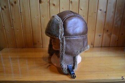 Brand New Genuine Real Leather Sheepskin Hat Size XL/60-61