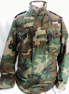 Vintage-M-65-M65-Cold-Weather-Field-Jacket-Camouflage-1989-Medium-Long-Golden