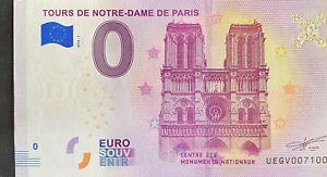 BILLET-0-EURO-TOURS-DE-NOTRE-DAME-DE-PARIS-FRANCE-2018-NUMERO-7100