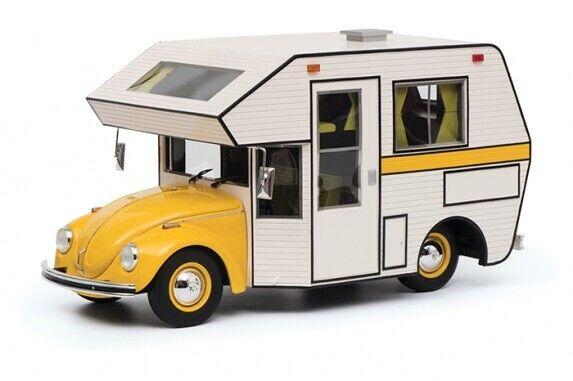 VW Beetle Motorhome Yellow - white 1 18 450011300