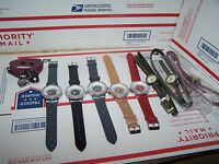Lot Of 9 Wrist Watches All Check Variety In Pictures