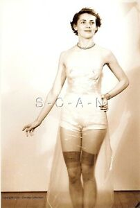 1940s-60s (4 x 6) Sepia Semi Nude Repro Pinup RP- Endowed