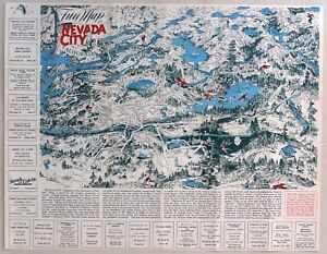 1940\'s NEVADA CITY, CALIFORNIA Fun Map | eBay