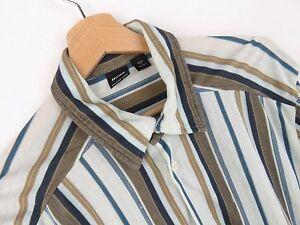 JY2779-Hugo-Boss-Camicia-Maglietta-Originale-Premium-a-Righe-Casual-di-Cotone