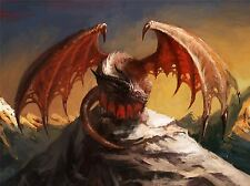 ART PRINT POSTER PAINTING DRAWING FANTASY MONSTER DRAGON WINGS LFMP1050