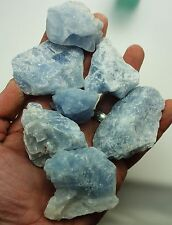 Wholesale BLUE CALCITE ROUGH ½lb LOT Parcel Gemstones Tumbling Natural Stones
