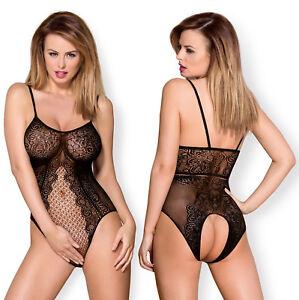 OBSESSIVE-B114-Luxury-Super-Soft-Decorative-Fishnet-Crotchless-Body-Teddy
