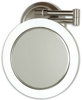 Zadro 10X/1X Magnification Hard Wire Dimmable Lighted Wall Mount MakeUp Mirror