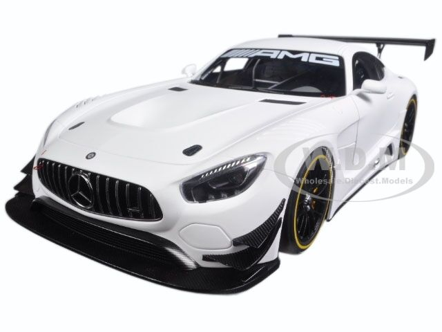 Mercedes AMG GT3 Plain Color version blanc mat 1/18 Voiture Modèle par AUTOART 81531