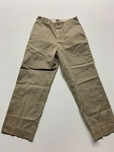 mens vintage gray chino work pants button fly