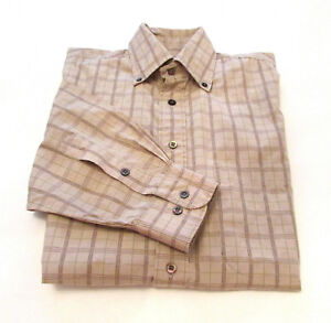 0fac25b206f4 BURBERRY London Men s Button Down Shirt sz Large Check Plaid 100 ...