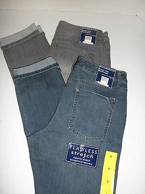 """Sierra NWT $49 Womens Bandolino MANDIE SLIM Fit /""""SLIT-KNEE/"""" Jeans 8 10 12 16"""