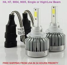LED Headlight Kit, H4, H7, 9004, 9005, Single Beam, 6500K, 3800LM, White Light