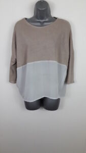 WOMENS-ZARA-3-4-LENGTH-SLEEVE-JUMPER-SWEATER-PULL-OVER-SIZE-EUR-M