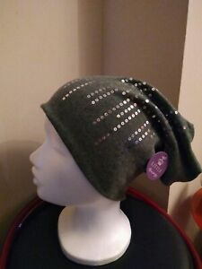 Little-Thingy-Sequin-Beanie-Hat-Green-One-size-Brand-New
