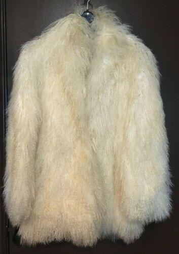 VINTAGE Long Hair Mongolian Sheep/Lamb Fur Coat
