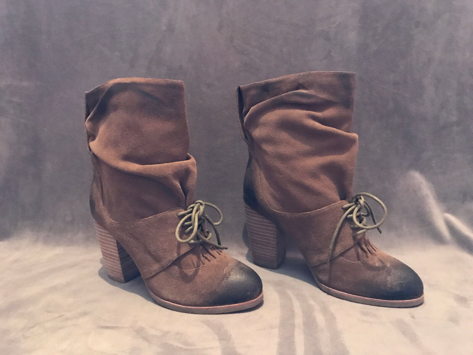 NEW ANTHROPOLOGIE MIDCALF ANTELOPE BROWN FRONT TIE MIDCALF ANTHROPOLOGIE Stiefel Schuhe SZ 37 bf087f