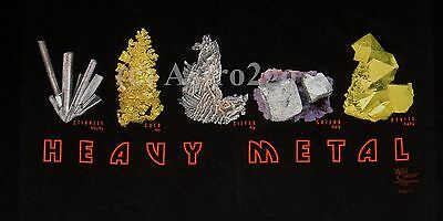 HEAVY METAL--Gold Silver Pyrite Galena Rock Geology Earth Science T shirt S-3XL