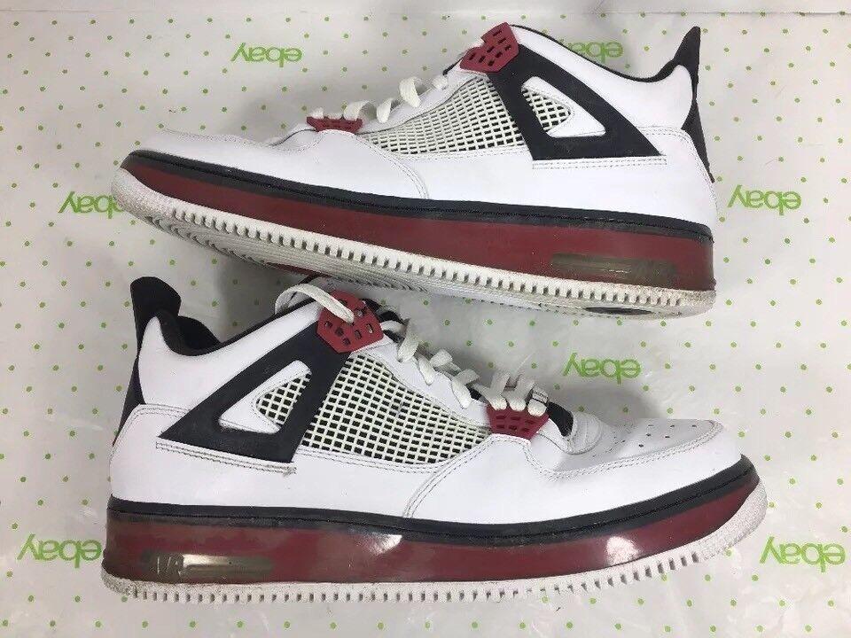 Nike Air Jordan Force IV AJF 4 shoes Sz 12 Varsity 364342-131 2009 FLAW