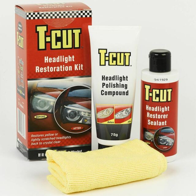 T-Cut Headlight Restoration Kit Restores - Yellow & Scratched Headlamps