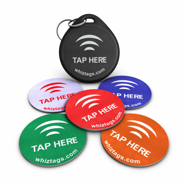 5 NFC TAGS + FREE Keychain - NTAG213 - SAMSUNG, HTC, NEXUS, SONY, LG & MORE