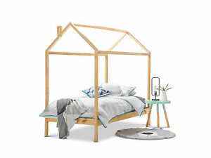 boy bed frames scandinavian wood timber single size house shaped bed 10907