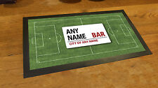 Personalised Football pitch street sign Bar runner counter mat