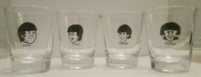 Shot Glasses Collection of 4 The Beatles Early Years1 1//2 oz