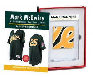 Mark McGwire 1997 Oakland Athletics Game Worn BP Jersey Mystery Swatch Box