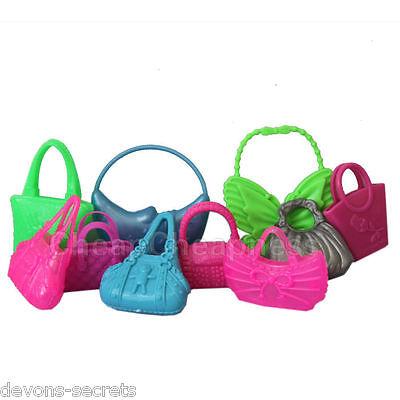 10 X Ragazze Bundle Giocattolo Bambola Barbie Borsetta Bag Nuovi Accessori Abiti Vestiti-mostra Il Titolo Originale