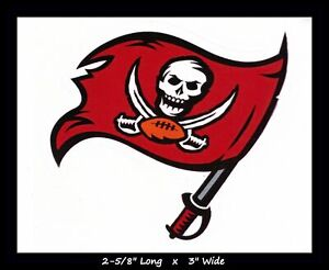 """TAMPA BAY BUCCANEERS NFL Vinyl Decal Sticker Reflective OFFICIAL NFL 3"""" Decal"""