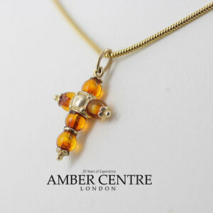 Italian made classic baltic amber cross pendant in 9ct gold gp0051 image is loading italian made classic baltic amber cross pendant in mozeypictures Gallery