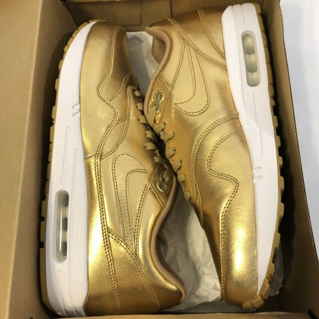 Nike Air Max 1 I Premium ID Liquid Gold Pack sz 10.5 VNDS Worn Once [823373 993]