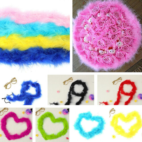 New Fancy Wedding Party Decor Feather Boa Strip Fluffy Costume Hen Night Dressup