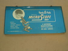 Metal Sign Tin Case Box Lid Handy Andy MicroScope set Vintage 1950's