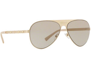 781fa477e4b0 NWT Versace Sunglasses VE 2189 1339 3 Brushed Pale Gold   Light ...