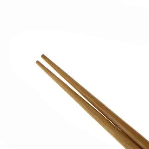 1 pair Natural Wavy Wood Chopsticks Chinese Chop Sticks Reusable Food Sticks B$