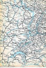 Strasbourg Dijon Genève Basel 1944 Eisenbahn-Teilkarte Nancy Freiburg Luzern CH