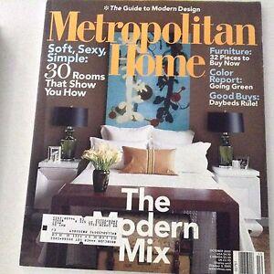 Metropolitan Home Magazine The Modern Mix October 2005 ...