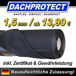 dachprotect epdm dachfolie 1 5mm gem dachdeckerrichtlinie keine teichfolie ebay. Black Bedroom Furniture Sets. Home Design Ideas