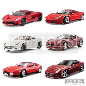 1-18-Ferrari-Diecast-Models-Bburago-Cars-LaFarrari-California-488-GTB-348ts