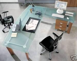 Arredo ufficio arredi scrivania cristallo poltrona ebay for Scrivania arredo