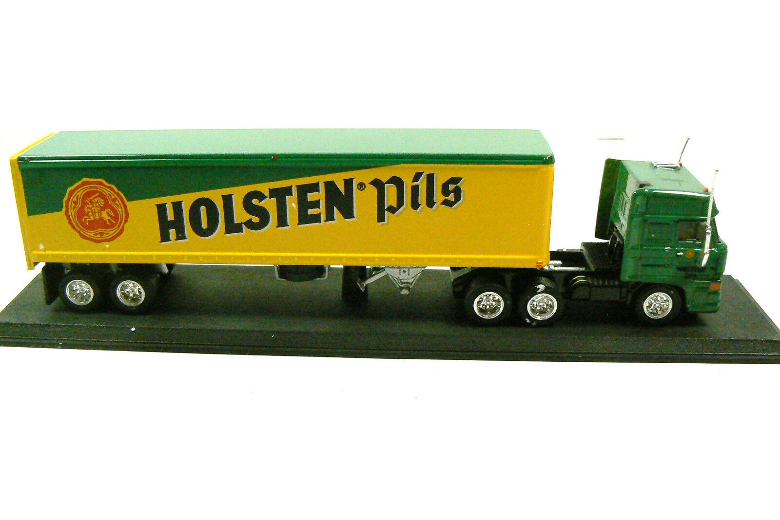 Matchbox Holsten Pils Semi Semi Semi Camión Remolque Modelo Diecast 1 100 Réplica Nuevo d31358