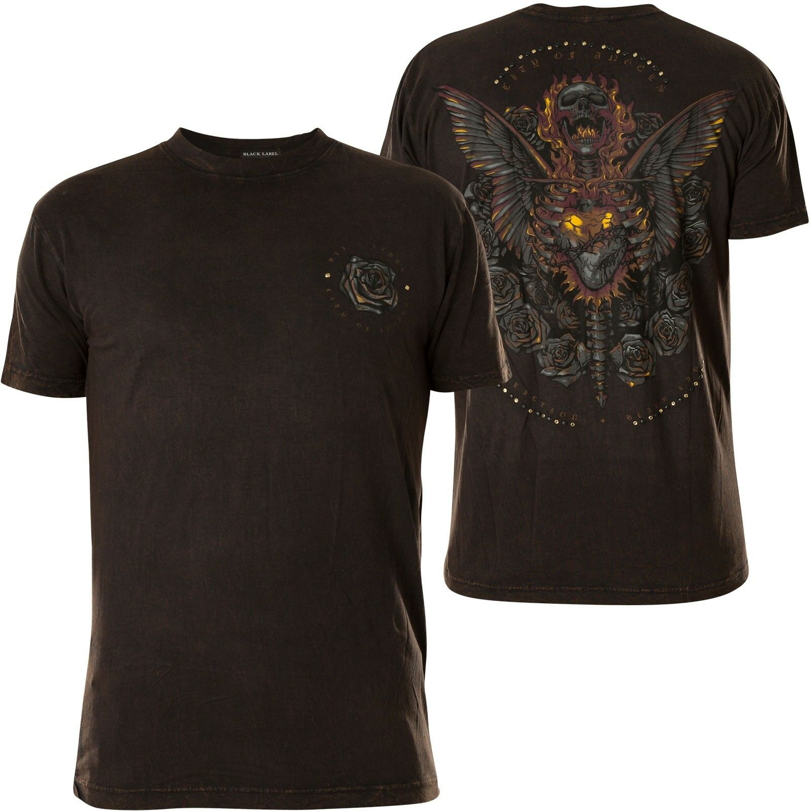 AFFLICTION T-Shirt Forged In Fait Schwarz T-Shirts