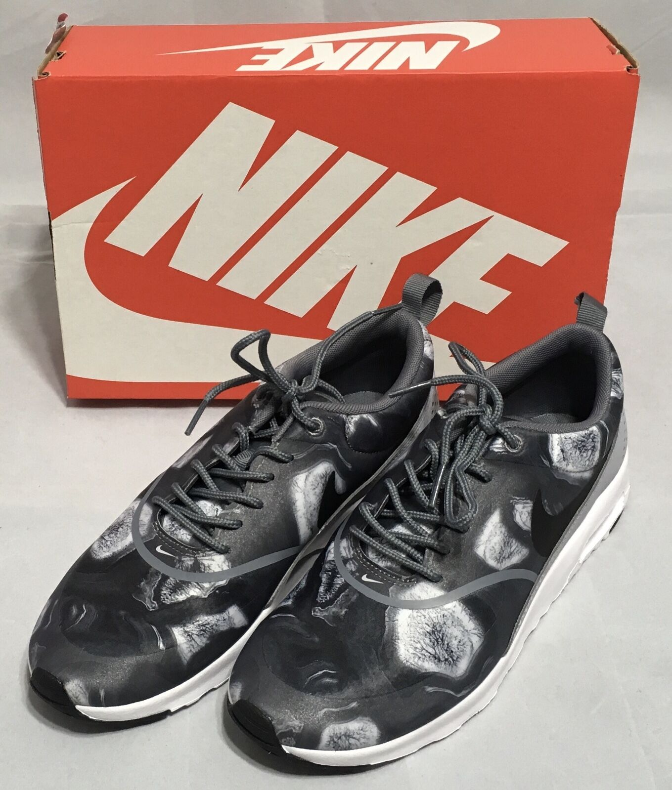 best website 46f12 4ed6f Nike Air Max Thea Print Women Shoes 599408 013 013 013 Gray Sz 6.5 8 8.5