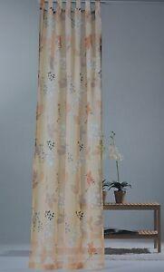 Schlaufenschal-Vorhang-Gardine-Store-Blume-Landhaus-135-245-cm-Made-in-Germany